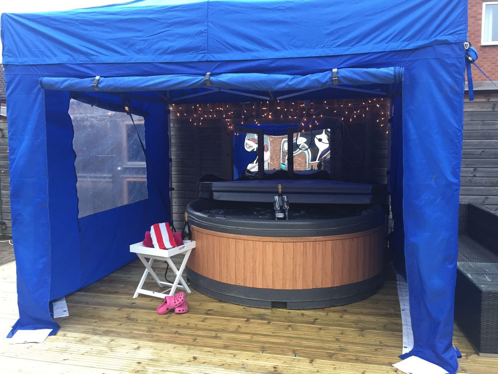 Hot tub gazebo Huddersfield